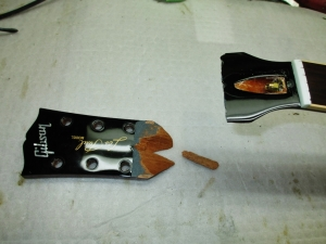 Gibson Les Paul Traditional Broken Headstock
