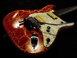 Parts Build Instal Floyd Rose D-Tuner Custom Pickguard and Pickups