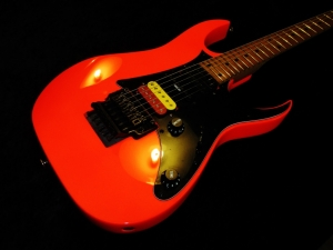 Ibanez Repaint In Road Flare Red Neon New Pickups And Wiring