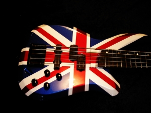 Union Jack Charvel Bass Paint Graphic