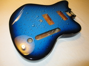 Custom Jazzmaster Digital Print With Burst Condensation Bubbles