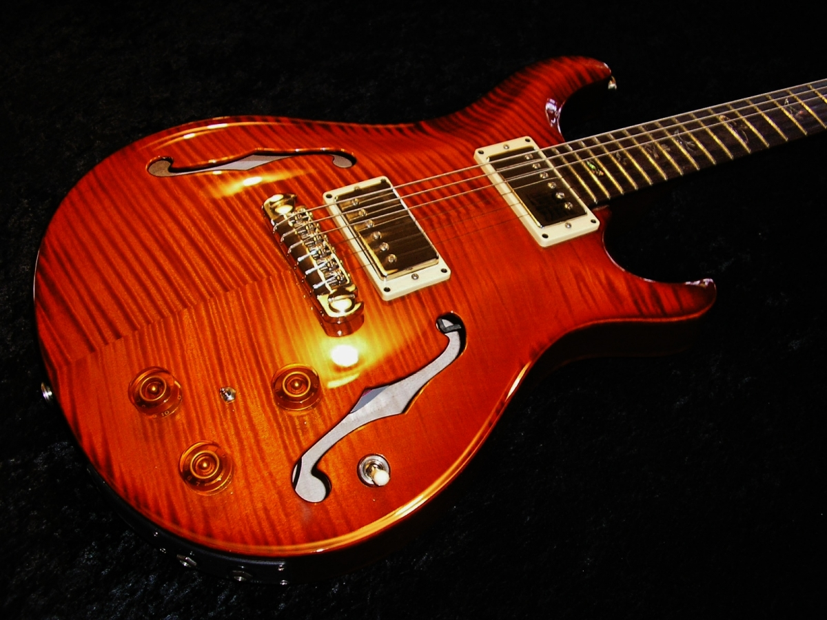 PRS Paul Reed Smith Hollow Flame Top & Back