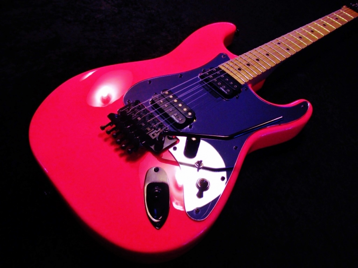 Neon Pink Charvel Custom Made Pickguard