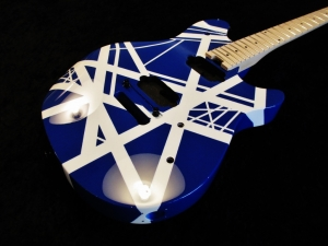 EVH Wolfgang Blue Bumble Bee Custom Paint