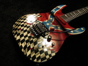 Charvel Custom Airbrush And Relic Fernandes Sustainer New Hardware Artwork By Ant