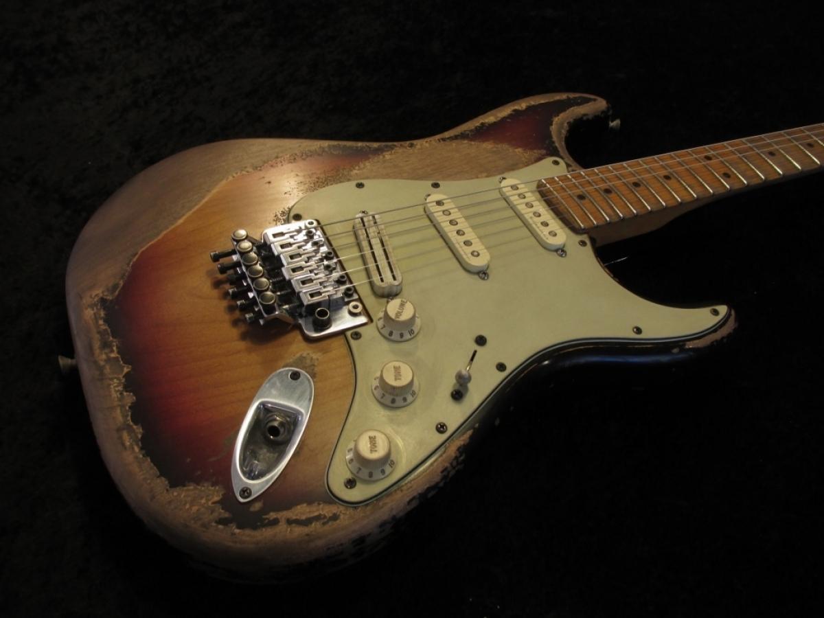fender stratocaster floyd rose heavy relic custom guitar works. Black Bedroom Furniture Sets. Home Design Ideas