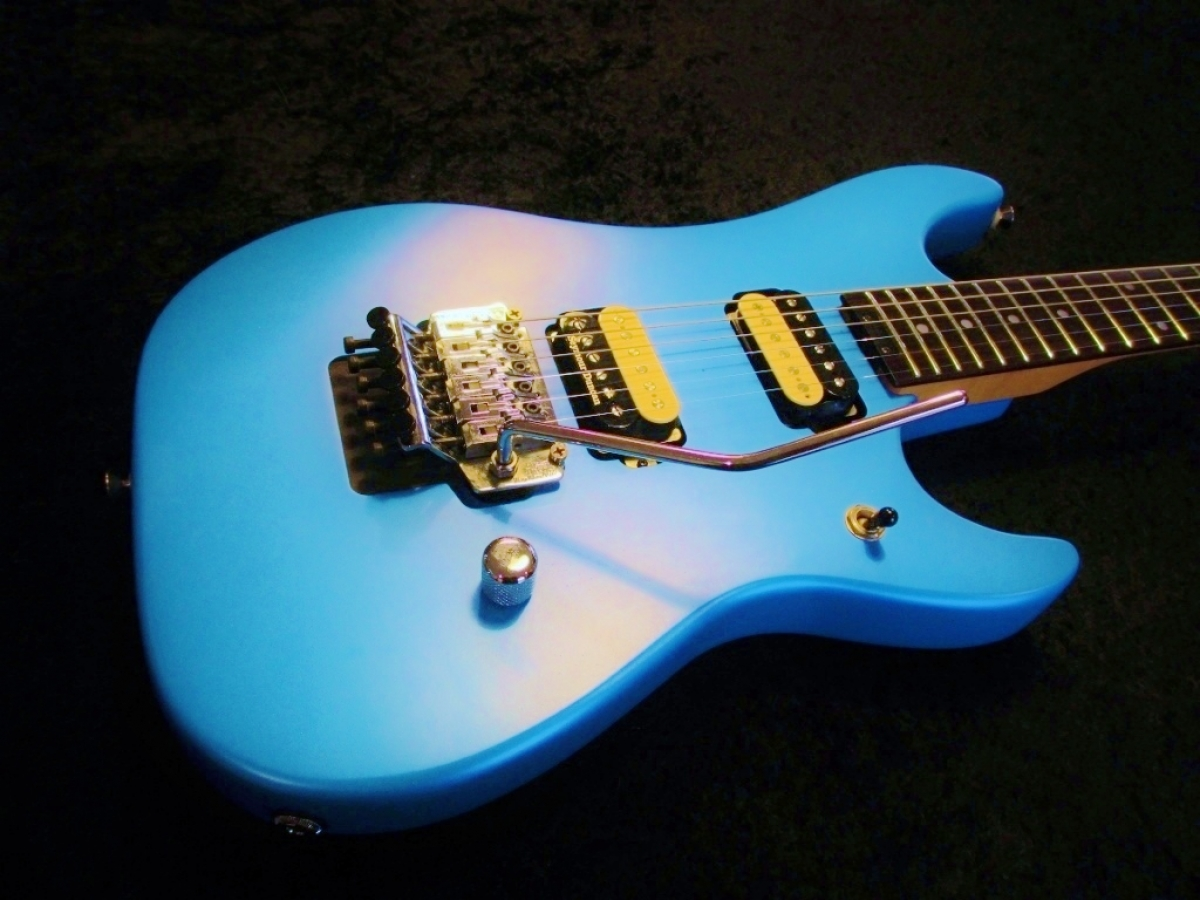 Nuno Bettoncourt N2 Matte Pearl Blue Repaint Remove Pickup Rings