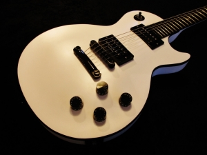 Gibson Gothic Les Paul Restoration In Custom Matte White Handmade Logos