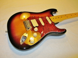 American Strat 3-Tone Sunburst New Pickguard Wiring and Pickups Fret Dress Setup