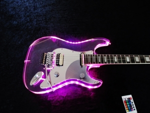 Rees Lucite Super Strat LED Light Show Remote Contoled