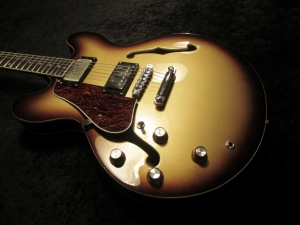 335 Full Makeover Gold Top Burst All New Parts and Wiring